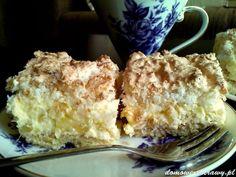 ciasto-ananasowe-z-kokosem1 Tiramisu, Pudding, Ethnic Recipes, Food, Pineapple, Polish Food Recipes, Custard Pudding, Essen, Puddings