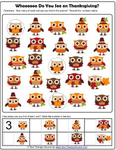 Thanksgiving Visual Discrimination Free Printable activity