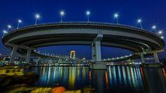 Rainbow Bridge and loop / ループとレインボーブリッジ Tokyo Tower, Rainbow Bridge, Bridges, The Rainbow Bridge
