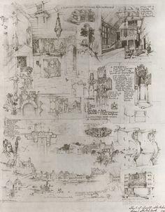 Sketches from Bertram Grosvenor Goodhue