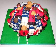 Not Tuck Into A Slice Of Rugby Scrum Cake Mmmmm cakepins.com