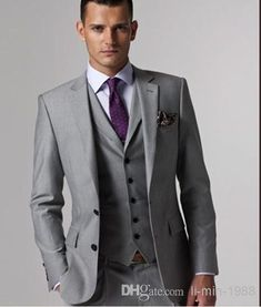 Custom Made To Measure Grey Men Suits Bespoke Wedding Tuxedos For Groom Suit S Grooming Gray And