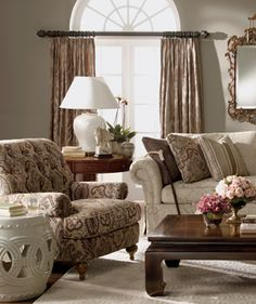 We've analyzed your selections – your Signature Lifestyle is Elegance. Elegance is the essence of timeless sophistication. A seamless composition of quintessentially classic design elements, reinterpreted through streamlined scale and shape. Luxurious yet beautifully livable. A cosmopolitan mix of clean woods paired with chic, enduring fabrics.  experience elegance Ethan Allen | 5 signature | elegance