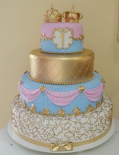 A beautiful reveal cake