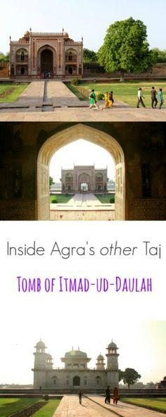 Exploring the Tomb of Itmad-ud-Daulah - Agra's other taj, known as the baby taj or mini-taj  Highly recommended if you're ever visiting the Taj Mahal!