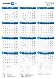 Calendario 2017 (formato vertical)