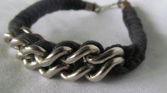 Bikers Chain Bracelet Black Victorian Gothic Jewelry