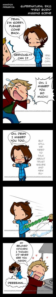 SPN 9x11 Missing Scene by KamiDiox on deviantART