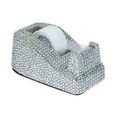 Learn to not take yourself too seriously! How fun is this bedazzled tape dispenser?! If you like the sparkle, incorporate rhinestones into all aspects of your decor!