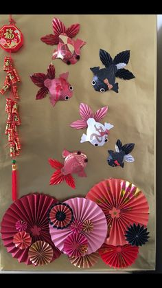DIY Chinese new year paper decorations DIY Chinese new year paper decorations Chinese New Year Flower, Chinese New Year Party, Chinese New Year Design, Chinese Theme, Chinese New Year Decorations, New Years Decorations, New Years Party, Paper Decorations, Diy Decoration