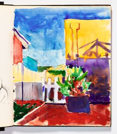 — A small gallery at Stanford's Cantor Arts Center is currently offering a deeply personal glimpse into the life and work of Bay Area artist Richard Diebenkorn. Richard Diebenkorn, Winslow Homer, John Singer Sargent, Watercolor Drawing, Mail Art, Artist At Work, Book Art, Gallery, Drawings