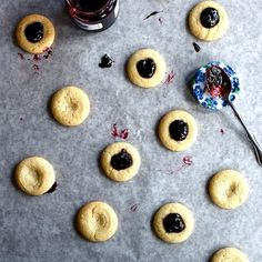 Goat Cheese Thumbprint Cookies on http://buttercreamblondie.com