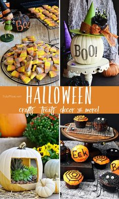 Halloween Crafts, Halloween Treats, Halloween decor and more! at TidyMom.net