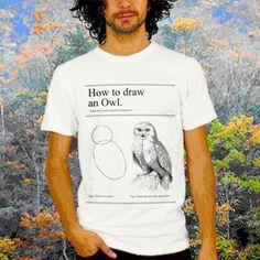 How to draw an owl  www.atinum.com