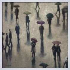 Singing In The Rain Art Print by B. Smith - WorldGallery.co.uk