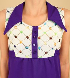 ViNtAgE 60's Mod Mini Dress Purple Babydoll by hellhoundvintage