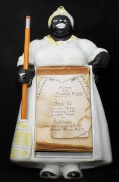 Cast Iron Aunt Jemima Notepad And Pencil Holder In
