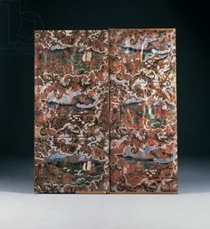 Embossed and polychrome decorated panels, late 17th century (leather)