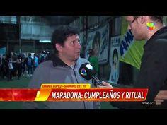 """Infama celebró el cumpleaños de Diego en la """"Iglesia Maradoniana"""""""