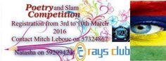 Best Poem and Slam Competition - see more on http://ift.tt/1TVqpNu #events #mauritius