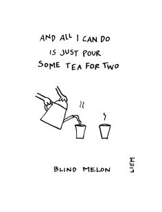 Blind Melon. No Rain. 365 illustrated lyrics project, Brigitte Liem.