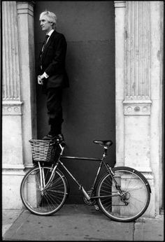 Photo by David Gibson @ in-public David Gibson, Street Photographers, Black And White Photography, Public, Pictures, Photos, Image, Cycling, Bike