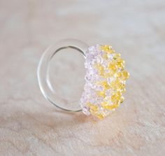 Glass Cluster Ring - Spring Mix