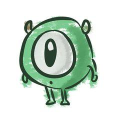 Mike Wazowski little baby he's so friggin cute monsters inc. monsters university