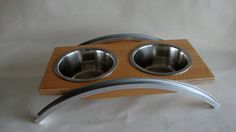 Pet+Dish+Stand++Walnut+by+IndependentWoodworks+on+Etsy, stylin pet feeder