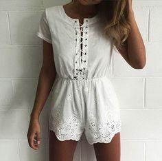#ootd #romper #white #summer