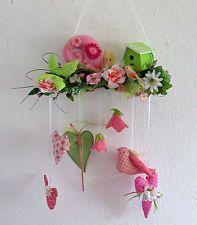 Girlande Schnecke Vogel Schmetterling Blüten Frühling Im Landhaus- Tilda Stil