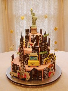New York City Sightseeing Cake Nyc Architecture