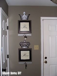 His and Hers Key Holders #home #decor