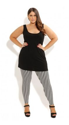 Plus Size Super Longline Basic Cami - City Chic - City Chic Winter Fashion Outfits, New Fashion, Trendy Fashion, Plus Size Fashion, Autumn Fashion, Fashion 2014, Striped Tights, Fashion Design Sketches, City Chic