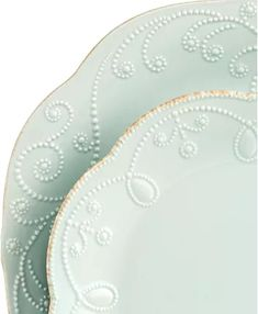 Lenox Dinnerware, French Perle Collection & Reviews - Dinnerware - Dining - Macy's Kitchen Color Trends, Lenox French Perle, White Dinnerware, Place Settings, Table Settings, Tea Stains, Mens Gift Sets, Hand Embroidery, Stoneware