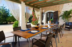 Rustic Outdoor Patio Chic Villa Ibiza Santa Eulalia Eivissa Holiday Villas