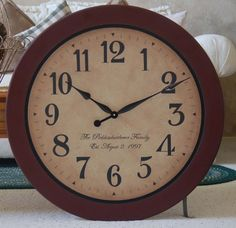 30 inch large wall clock antique style framed by BigClockShop, $103.00