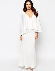 Jarlo Caped Sleeve Maxi Dress
