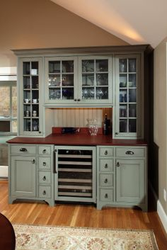 Archia Homes – creative kitchen solutions – The Owner-Builder Network Dining Room Server, Dining Room Buffet, Dining Room Design, Kitchen Dining, Kitchen Decor, Kitchen Hutch, Buffet Server, Built In Hutch, Built In Buffet