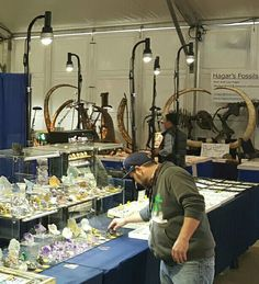 Mineral display led lighting by www.showofflighting.com  #mineralshow #fossilshow #gemshow #showbooth #boothlighting