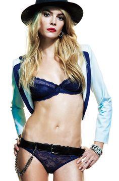 jacket, bra and underwear, all by #EmporioArmani