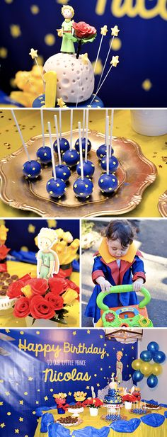 Jacob s the little prince themed party dessert spread Decoration le petit prince