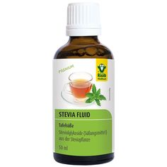 stevia_fluid_50ml_flasche_v1__06965 Stevia, Vegan, Juice Bottles, Ricotta, Drinks, Desserts, Alternative, Diet, Flasks