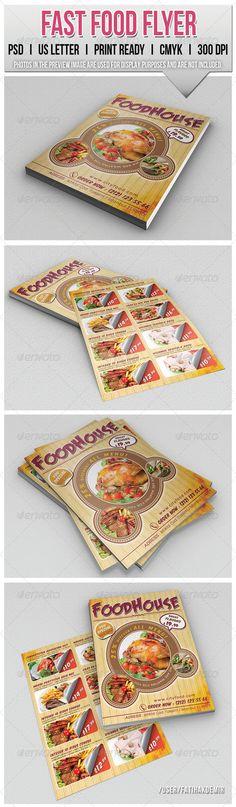 Fast Food Flyer. Customizable professional template for a restaurant flyer. #FlyerTemplate #flyer #restaurant #GraphicTemplate #design #PrintDesign #cafe #fast #flyers #food Menu Design, Flyer Design, Print Design, Graphic Design, Stencil Templates, Print Templates, Pop Art Food, Menu Flyer, Information Technology Logo