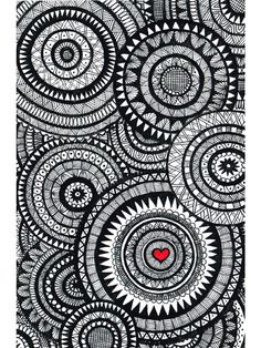 Zendoodle inspiration, colored heart
