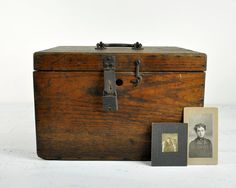 Antique Wood Box by havenvintage on Etsy