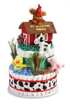 Baby Shower Centerpiece Diaper Cake
