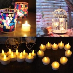 Best Quality Electronic Led #Candle# Flickering Tea Light Xmas/Wedding Party Flameless Flickering Tea Light Indoor Outdoor Use At Cheap Price, Online Candles | Dhgate.Com