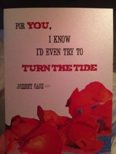 Johnny Cash quote on wedding invitation