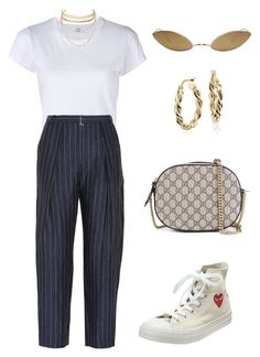 """""""Untitled #1169"""" by lucyshenton ❤ liked on Polyvore featuring RE/DONE, By Malene Birger, Blue Nile, Converse, Acne Studios, Gucci and Charlotte Russe"""